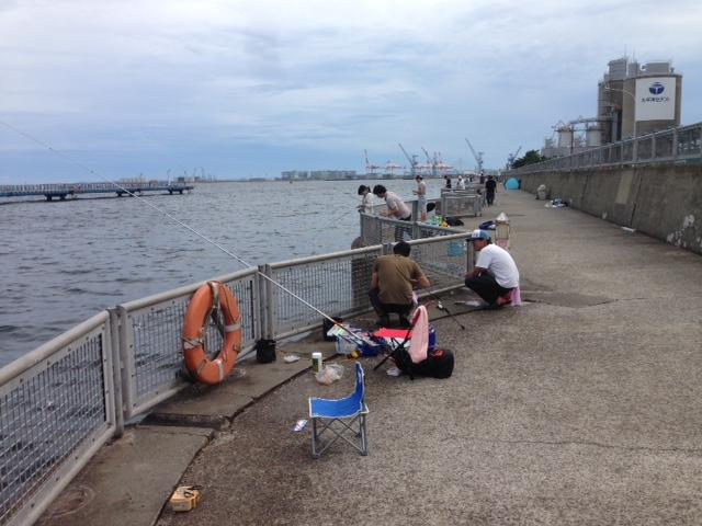 夏の本牧海づり施設の釣果