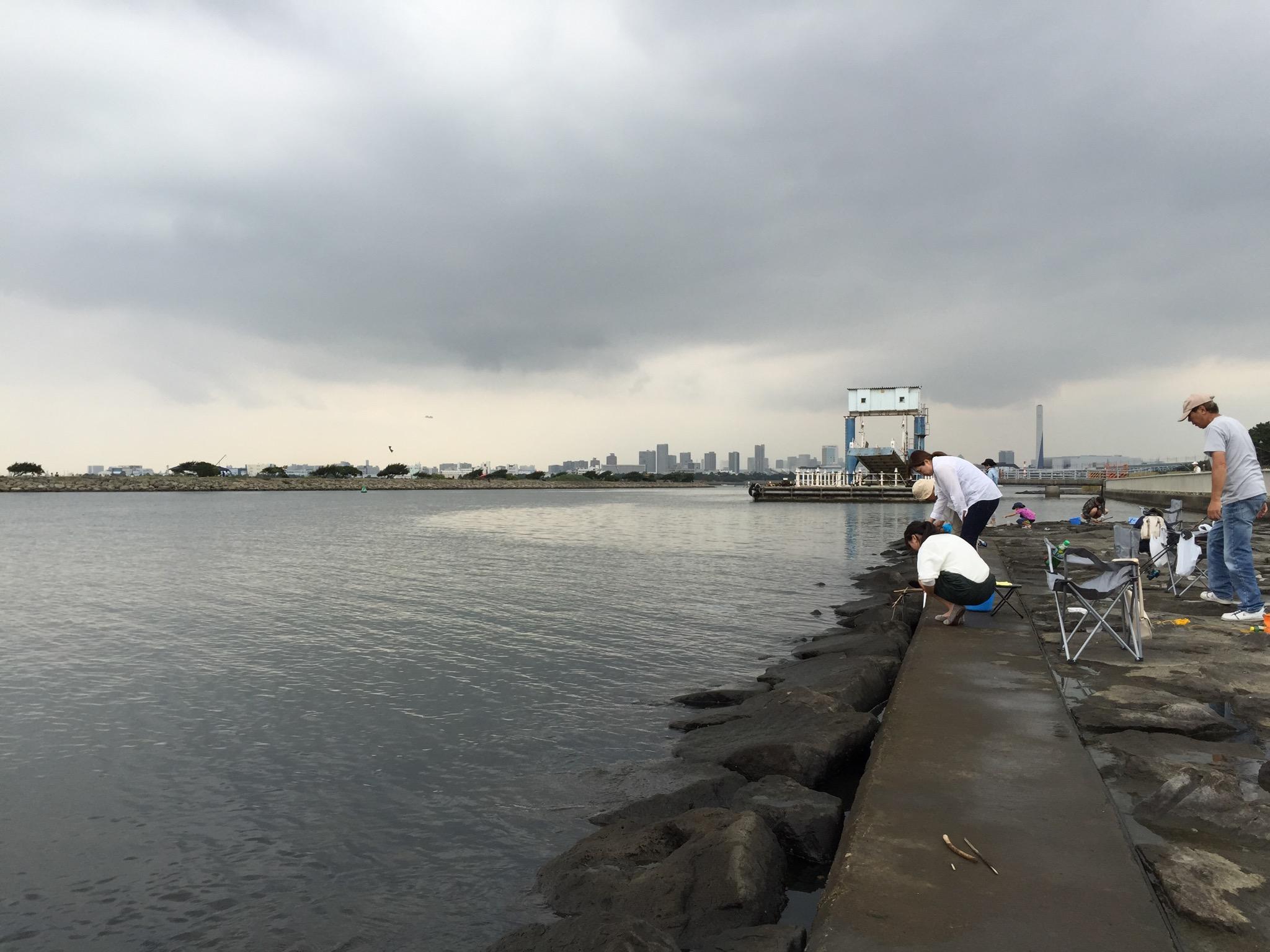 葛西臨海公園でハゼを釣る